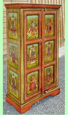 amazing armoire peinte la main du rajasthan with maison du monde armoire. Black Bedroom Furniture Sets. Home Design Ideas