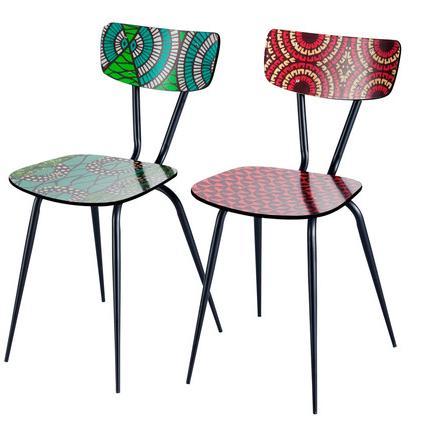 chaises bamako imprimes multicolores by maisons du monde