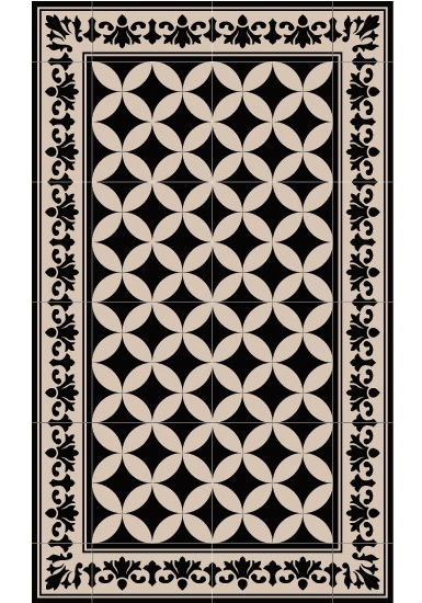 tapis pour la cuisine tapis de cuisine effet carreaux de ciment decoration cuisine hlm. Black Bedroom Furniture Sets. Home Design Ideas