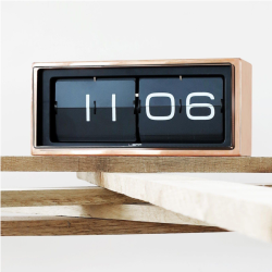 Horloge Leff Brick 24H cuivre